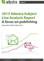 Adestra Subject Line Analysis Report 2013
