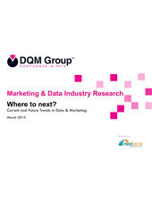 Where to next? Current and Future trends of Data and Marketing